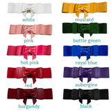 Banned Bow Belts (10 colors!)-Belts-Glitz Glam and Rebellion GGR Pinup, Retro, and Rockabilly Fashions