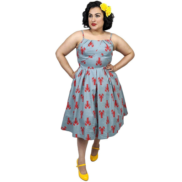 Banned Lobster Love Dress-Dress-Glitz Glam and Rebellion GGR Pinup, Retro, and Rockabilly Fashions