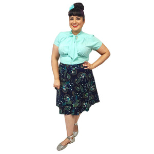 Banned Proud Peacock Skirt-Skirts-Glitz Glam and Rebellion GGR Pinup, Retro, and Rockabilly Fashions