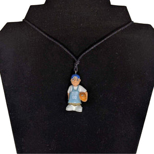 Homies-Mijos Basketball Boy Necklace-Aye Que Chula-Glitz Glam and Rebellion GGR Pinup, Retro, and Rockabilly Fashions