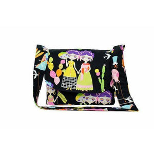 Hemet Frida Esperanza Messenger Bag in Black-Purses-Glitz Glam and Rebellion GGR Pinup, Retro, and Rockabilly Fashions