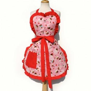 Hemet Sweet Cupcakes Apron-Pinup Aprons-Glitz Glam and Rebellion GGR Pinup, Retro, and Rockabilly Fashions