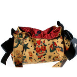 Hemet Ribbon Purse in Tattoo Print-Purses-Glitz Glam and Rebellion GGR Pinup, Retro, and Rockabilly Fashions