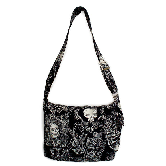 Hemet Victorian Gothic Messenger Bag-Purses-Glitz Glam and Rebellion GGR Pinup, Retro, and Rockabilly Fashions
