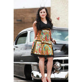 Hemet Halter Dress in Guadalupe Art Print-Dress-Glitz Glam and Rebellion GGR Pinup, Retro, and Rockabilly Fashions