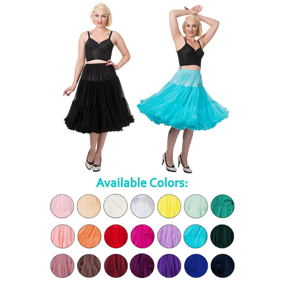 update alt-text with template Banned 'Lifeforms' Tea Length Petticoat-Petticoat-Glitz Glam and Rebellion GGR Pinup, Retro, and Rockabilly Fashions