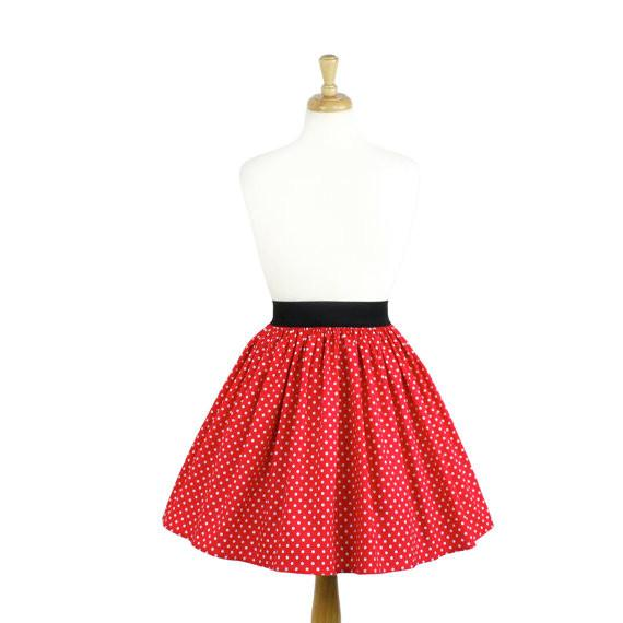 Hemet Pleated Skirt in Red & White Mini Polka Dot-Skirts-Glitz Glam and Rebellion GGR Pinup, Retro, and Rockabilly Fashions