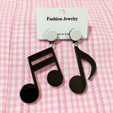 GGR Black & White Music Earrings-Jewelry-Glitz Glam and Rebellion GGR Pinup, Retro, and Rockabilly Fashions