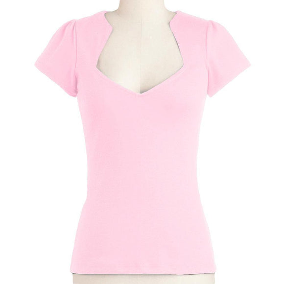 GGR Rockabilly Diamond Cut Shirt in Pink-Shirts-Glitz Glam and Rebellion GGR Pinup, Retro, and Rockabilly Fashions