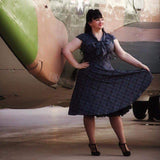 GGR Lilly Swing Dress in Grey Plaid-Swing Dress-Glitz Glam and Rebellion GGR Pinup, Retro, and Rockabilly Fashions