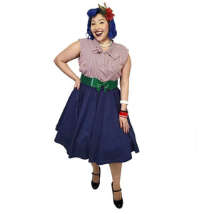 Pinup Skirt in Navy - SPECIAL!-Skirts-Glitz Glam and Rebellion GGR Pinup, Retro, and Rockabilly Fashions
