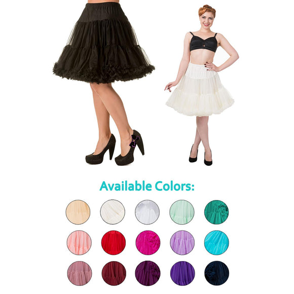 update alt-text with template Banned 'Walkabout' Short Petticoat-Petticoat-Glitz Glam and Rebellion GGR Pinup, Retro, and Rockabilly Fashions