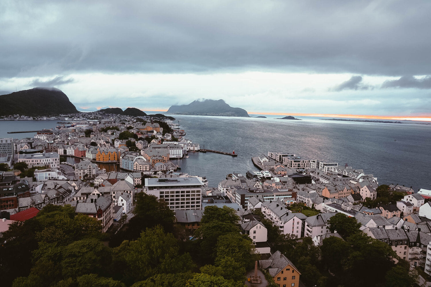 Fjellstua viewpoint in Alesund, Norway