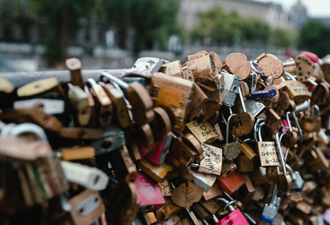 Pont Des Arts Bridge when it had love locks on