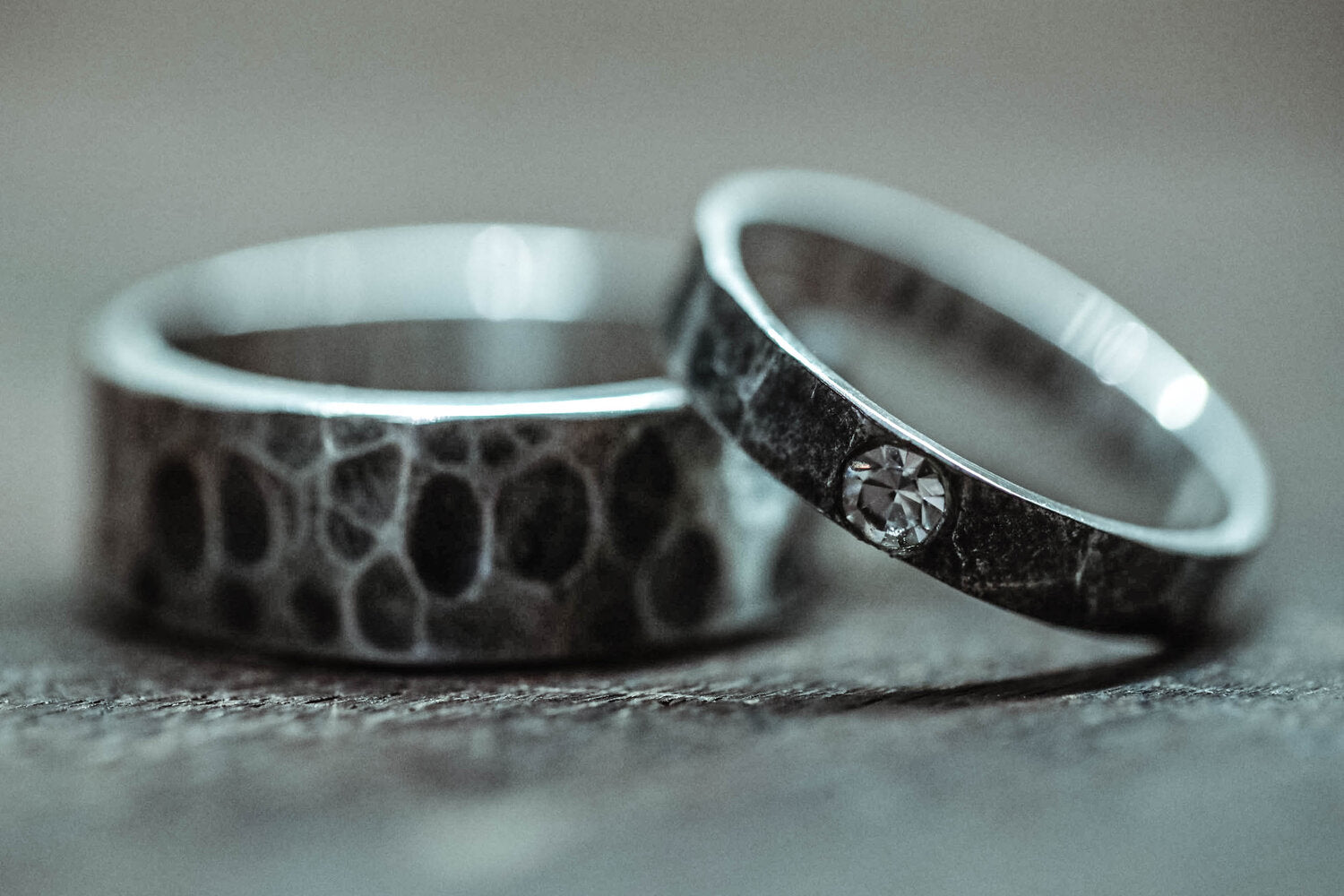 Rings designed at Agung Silver in Sideman, Bali