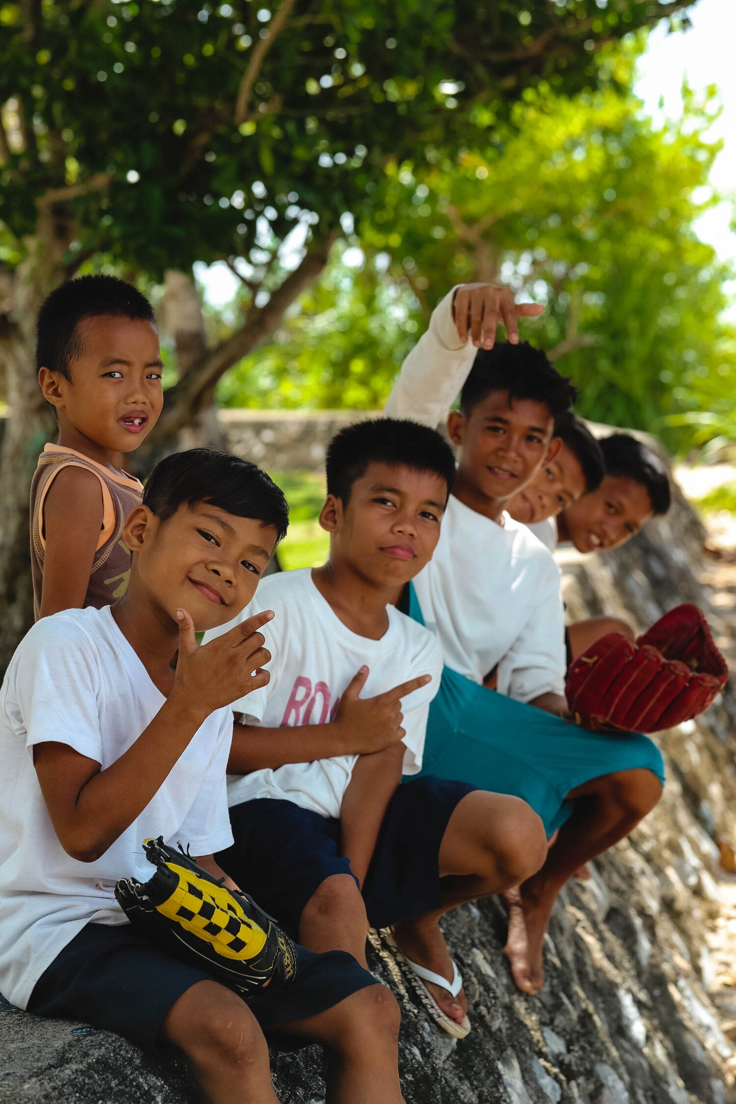 Group of children in Bantayan, Philippines