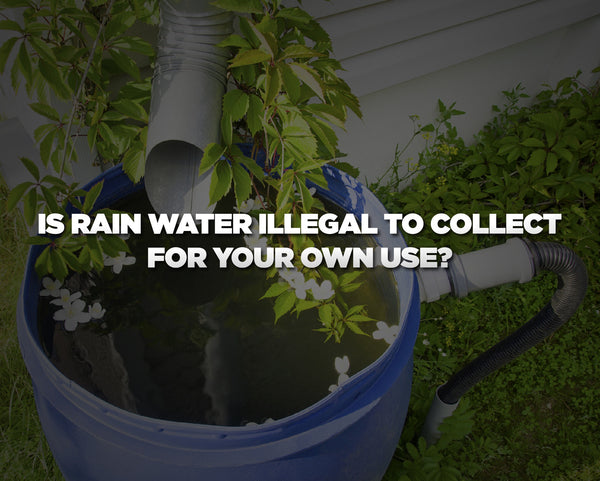 Is Rain Water Illegal to Collect for Your Own Use?