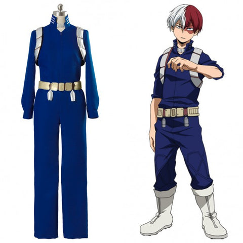 Cosplay Z! Anime Adult My Hero Academia - Shoto Todoroki Battle Blue Suit II Uniform - Goggi, Jolli & Milki - www.gojomi.com
