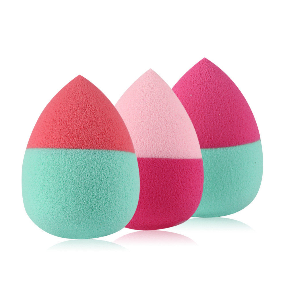 Beauty Puff Sponge Tear Drop Shape Bi-Color 3 pcs - Goggi, Jolli & Milki - www.gojomi.com