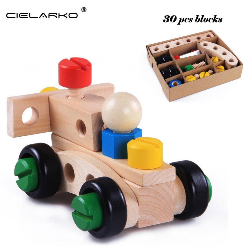 Toy Wooden Model Building Kit Racing Car Motorbike Plane - Goggi, Jolli & Milki - www.gojomi.com