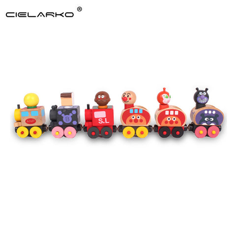 Toy Wooden Train Magnetic 6pcs Engine and Carriages - Goggi, Jolli & Milki - www.gojomi.com