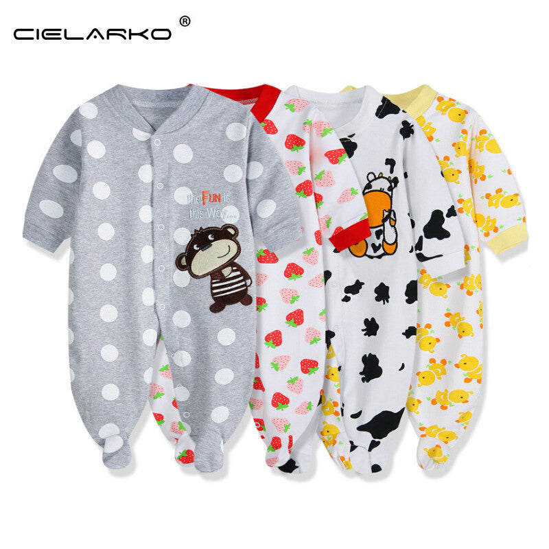 Baby Bodysuit Long Sleeve Turtle Ladybird Tiger Butterfly