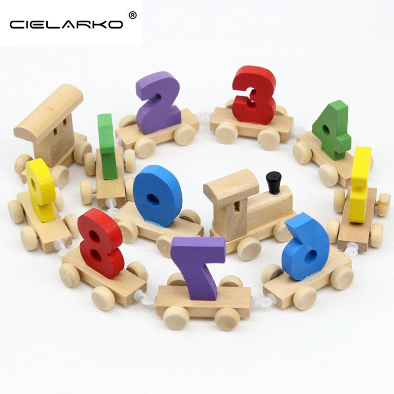 Toy Wooden Train Numbers Digits 12pcs - Goggi, Jolli & Milki - www.gojomi.com