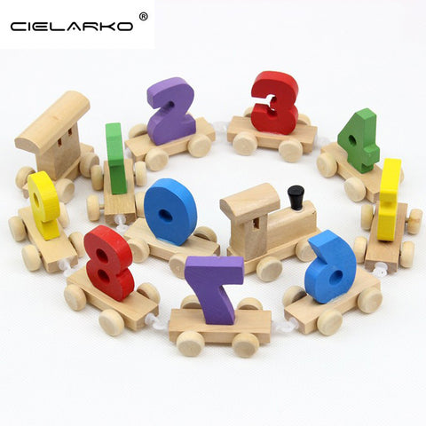 Toy Wooden Train Numbers Digits 12pcs - Goggi, Jolli & Milki www.gojomi.com