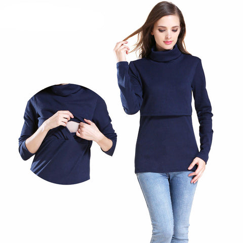 Maternity Jumper Turtleneck Long Sleeve - Goggi, Jolli & Milki - www.gojomi.com
