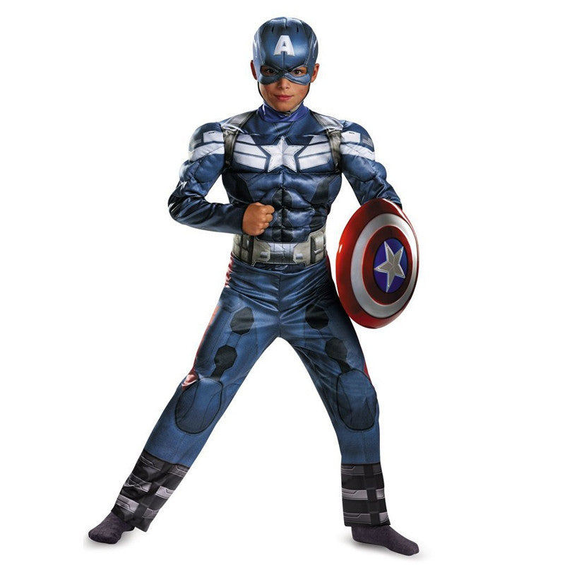 Cosplay Comic Child Captain America Muscle Suit - Goggi, Jolli & Milki - www.gojomi.com