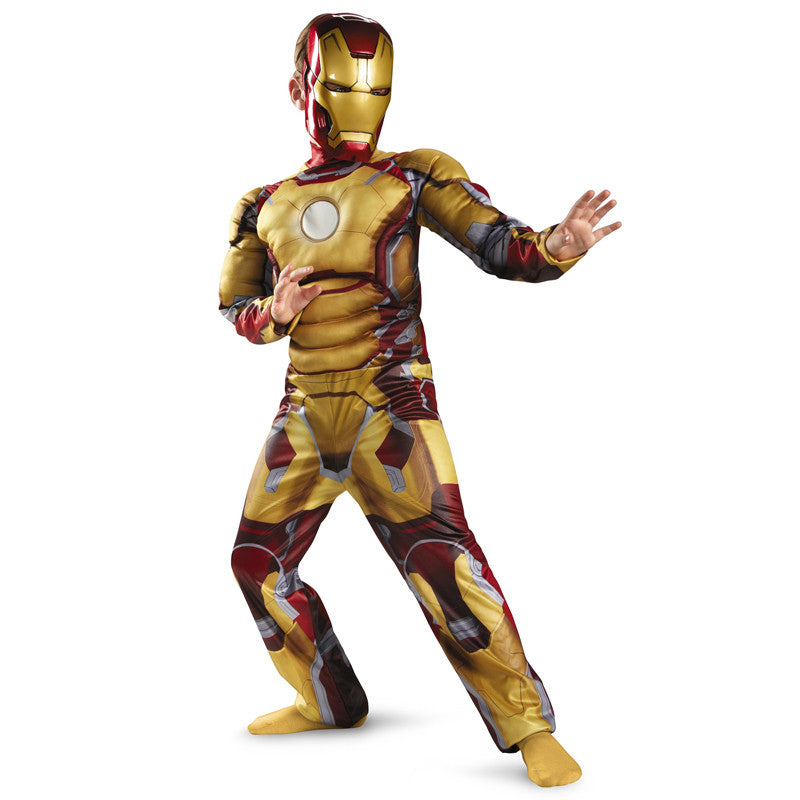 Cosplay Comic Child Iron Man Mark 42 / Patriot Muscle Suit