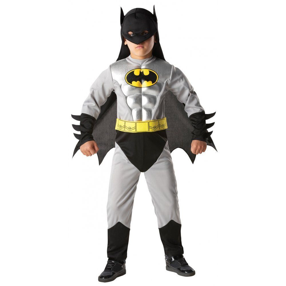 Cosplay Comic Child Batman Caped Crusader Muscle Suit