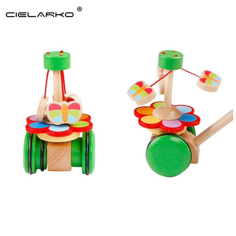 Toy Wooden Push & Pull Whirling Butterfly - Goggi, Jolli & Milki www.gojomi.com