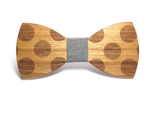 Bunyan's Bow Ties - Butterfly Polka Dot Handcrafted Wood