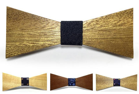 Bunyan's Bow Ties - Batwing Classic Plain Handcrafted Wood