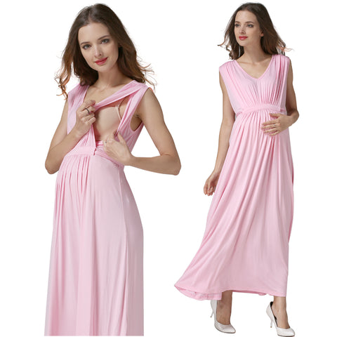 Maternity Dress Maxi Sleeveless