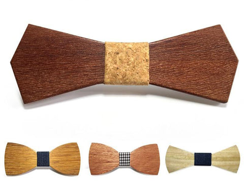 Bunyan's Bow Ties - Diamond Pointed Classic Plain Handcrafted Wood - Goggi, Jolli & Milki - www.gojomi.com