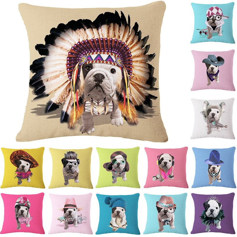 100% FREE just pay shipping. Adorable Bulldog Cushion Cover. Match your pup's personality. - Goggi, Jolli & Milki - www.gojomi.com