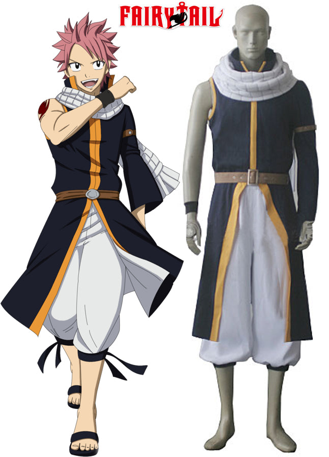 Cosplay Z! Anime Adult Fairy Tail - Natsu Dragneel After Seven Years Suit - Goggi, Jolli & Milki - www.gojomi.com