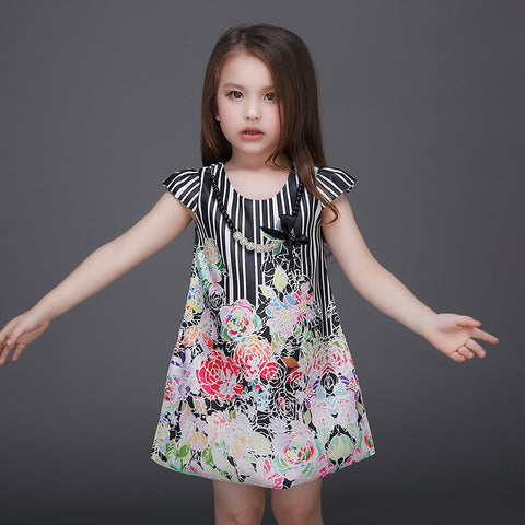 Girls Dress Formal Flowers - Goggi, Jolli & Milki - www.gojomi.com
