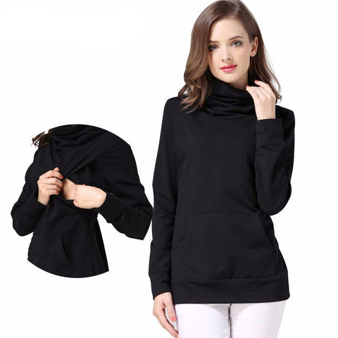 Maternity Jumper Turtleneck Loose Long Sleeve