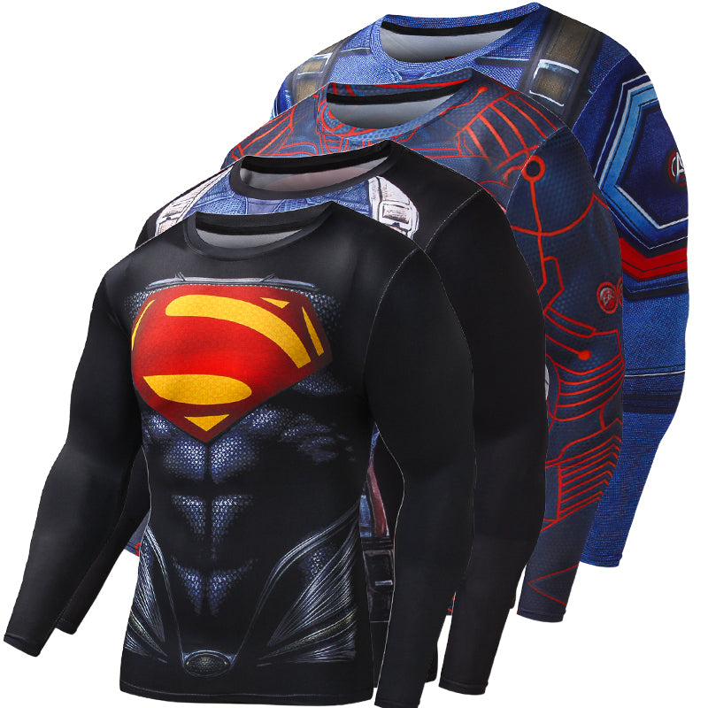 Biceps - Compression Shirt Super Hero Full Sleeve