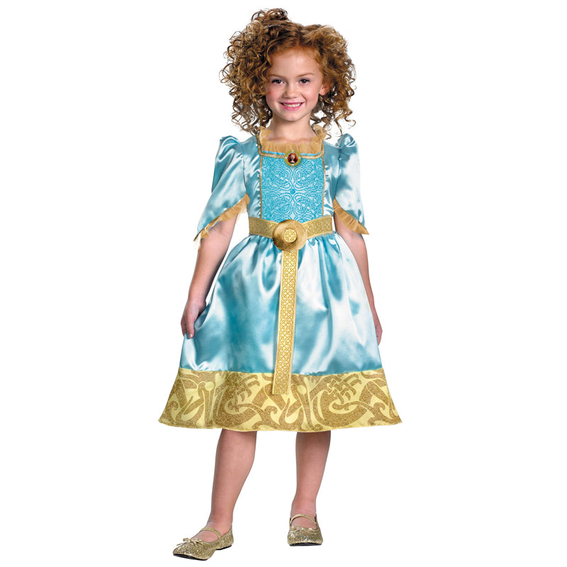 Cosplay Movie Child Merida Brave Sparkle Dress