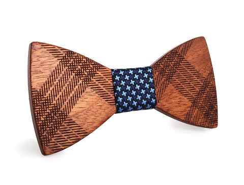 Bunyan's Bow Ties - Butterfly Tartan Clan Handcrafted Wood