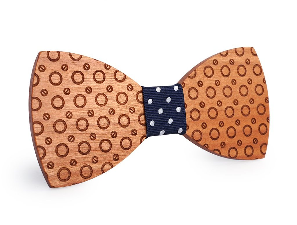 Bunyan's Bow Ties - Butterfly Classic Circles Handcrafted Wood