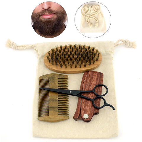 Beard - Shaving Beard, Brush & Comb Kit