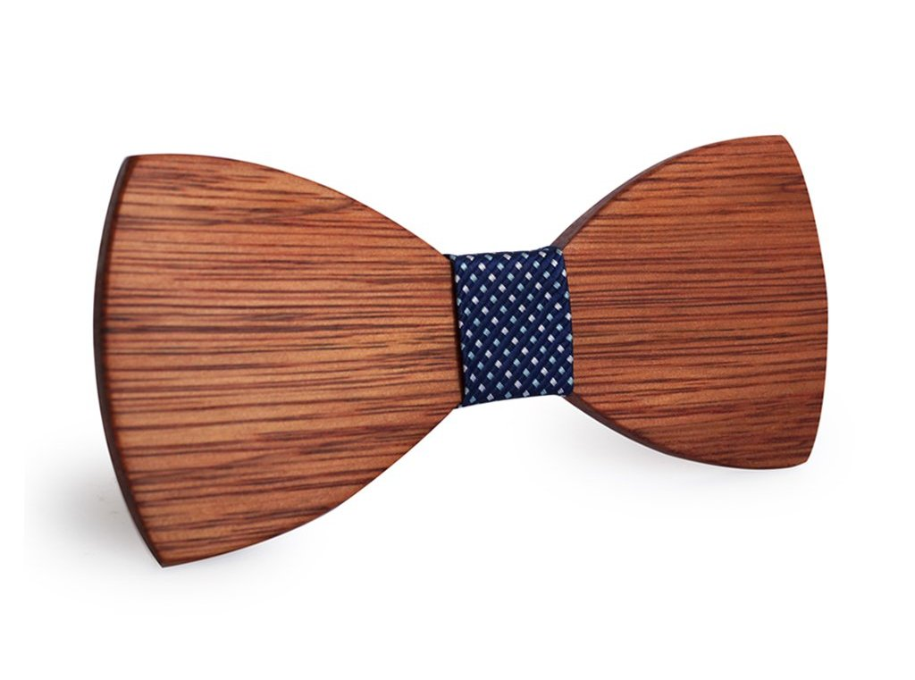 Bunyan's Bow Ties - Butterfly Classic Plain Deep Handcrafted Wood