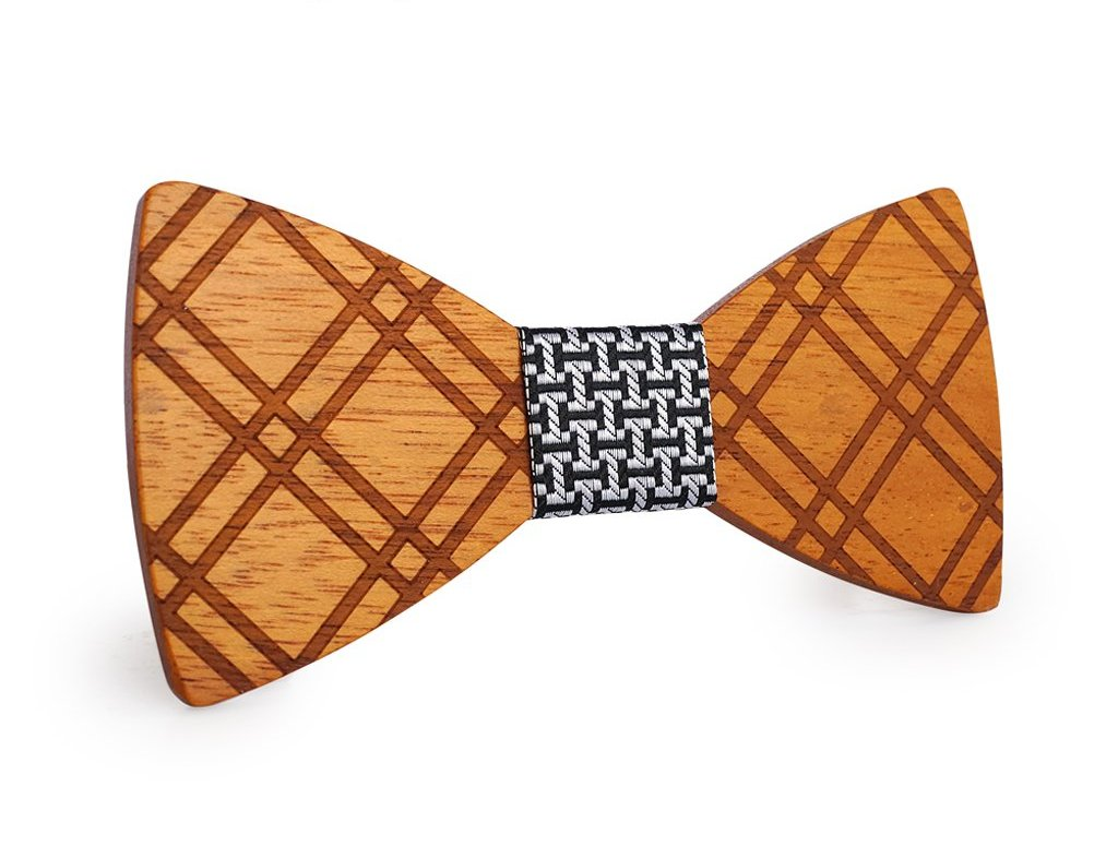 Bunyan's Bow Ties - Butterfly Tartan Handcrafted Wood