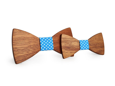 Bunyan's Bow Ties - Butterfly Classic Plain Handcrafted Wood (Father Son)