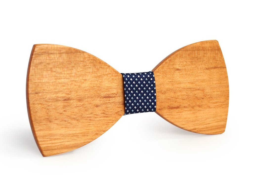 Bunyan's Bow Ties - Butterfly Classic Light Plain Handcrafted Wood